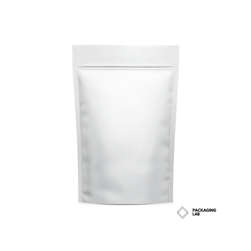 matte white stand-up pouch